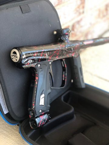 Used SP Shocker XLS Paintball Marker - Punisher's Tri-Color Splash - #35 of 35