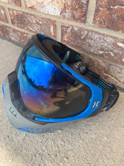 Used HK Army KLR Paintball Mask- Blue/Grey