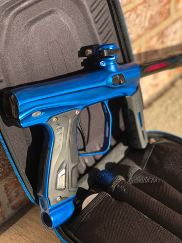 Used Shocker XLS Paintball Gun - Dust Blue