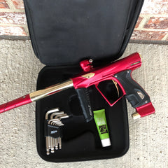 Used HK Army Shocker RSX Paintball Marker- Red / Gold