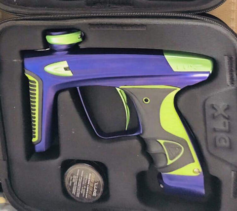 Used Purple/Lime DLX Luxe Ice Paintball Marker