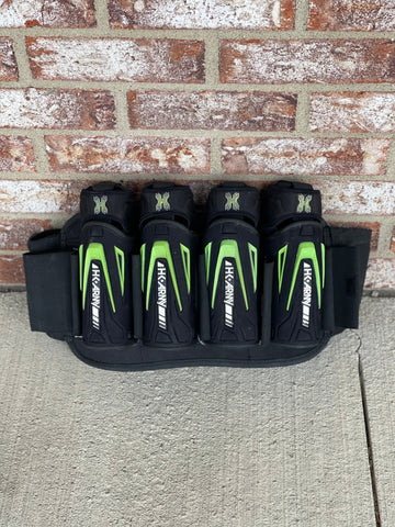 Used HK Army Zero G Harness - Black/Lime - 4+3+4