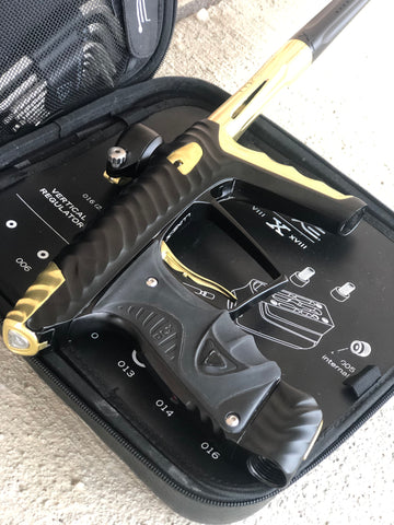 Used HK Army Luxe X Paintball Gun - Dust Black/Gold