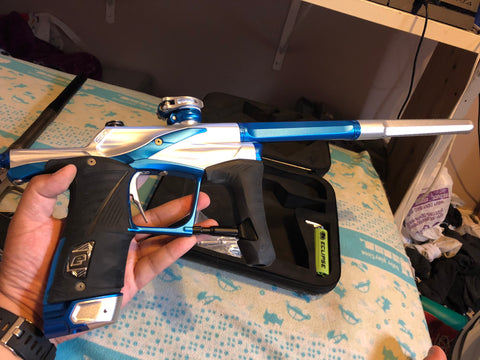 Used Planet Eclipse Lv1.5 Silver/Blue Paintball Gun