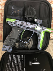 Used DLX Luxe X Paintball Gun - Urban Camo with Lime Accents