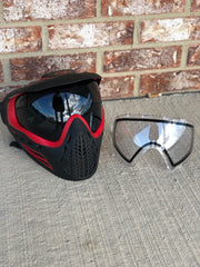 Used Virtue Vio Ascend Paintball Mask - Red Smoke