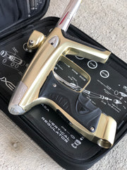 Used DLX Luxe Ice Paintball Gun - Dust Gold/Silver