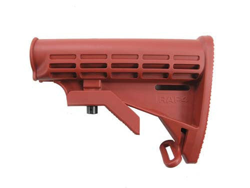 Carbine Butt Stock (Red) - Punishers Paintball