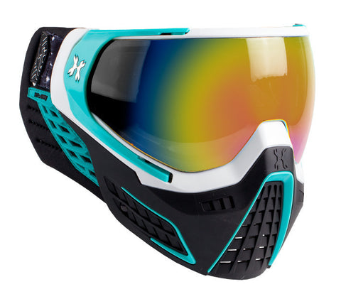 KLR Goggle Mist (White/Teal - Fusion Lens)
