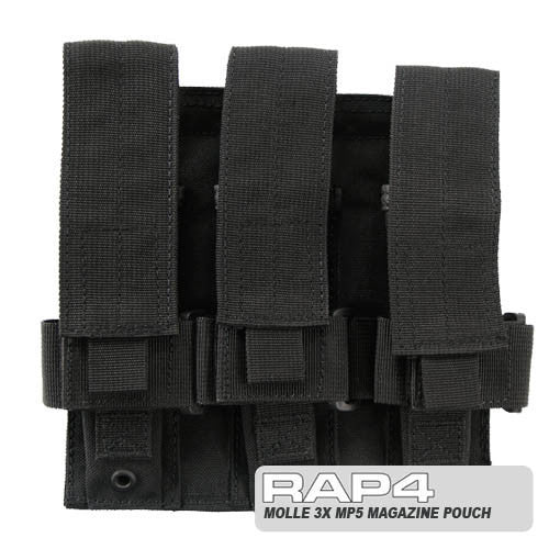 BLACK Triple MP5 Magazine Pouch - Punishers Paintball