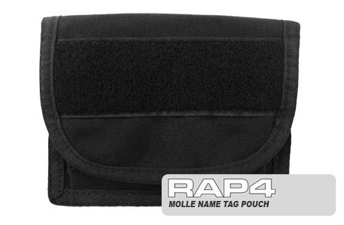 BLACK Name Tag Pouch - Punishers Paintball