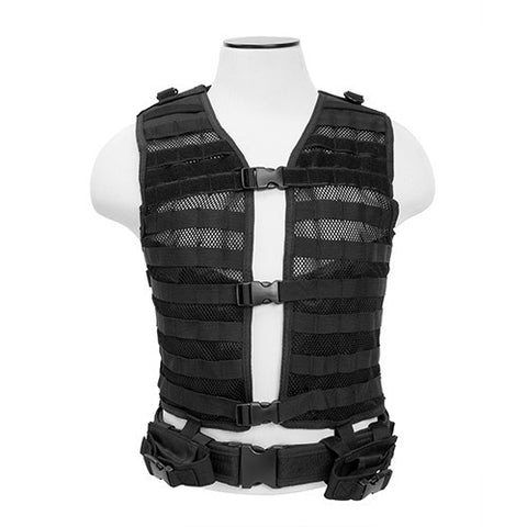 NCStar Pals / MOLLE Tactical Vest - Black