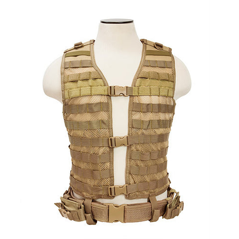NCStar Pals / MOLLE Tactical Vest - Tan