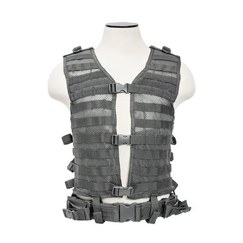 NCStar Pals / MOLLE Tactical Vest - Urban Grey