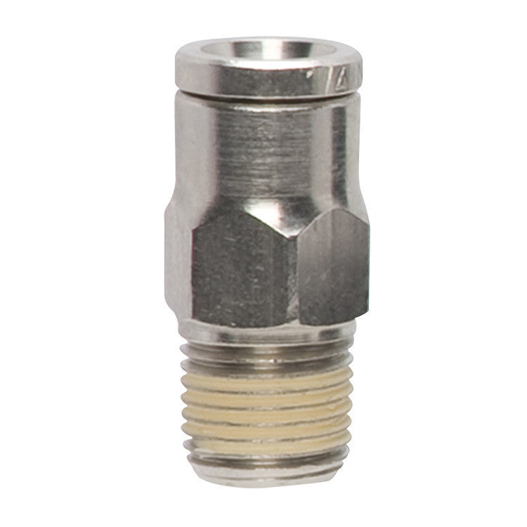 Marker Accessory - Nickel Plated Macro Fitting - Straight - Punishers Paintball