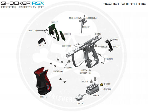 SP Shocker Grip Frame Parts List - Pick The Part You Need!