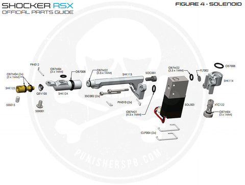 SP Shocker Solenoid/Bolt Speed Adjuster Parts List - Pick The Part You Need!