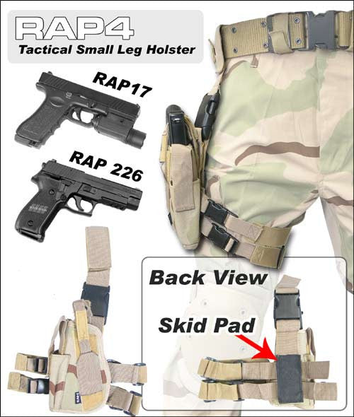 BLACK Tactical Leg Holster Right Hand Small - Punishers Paintball
