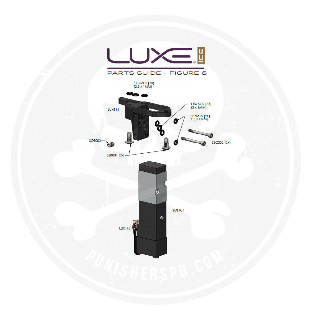 DLX Luxe Ice Solenoid Manifold System Parts List   Pick The Part You Need!