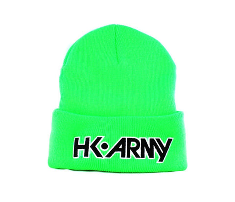 HK Typeface Beanie Lime - Punishers Paintball