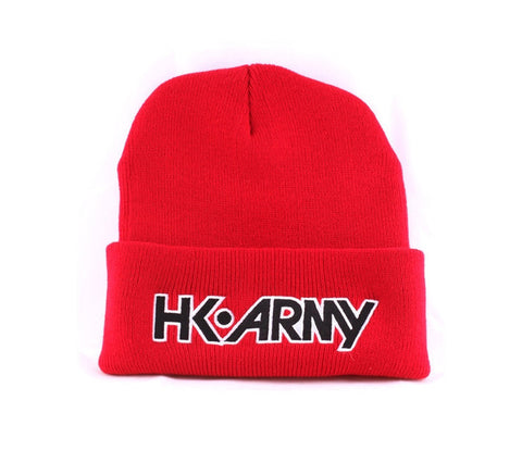 HK Typeface Beanie Red - Punishers Paintball