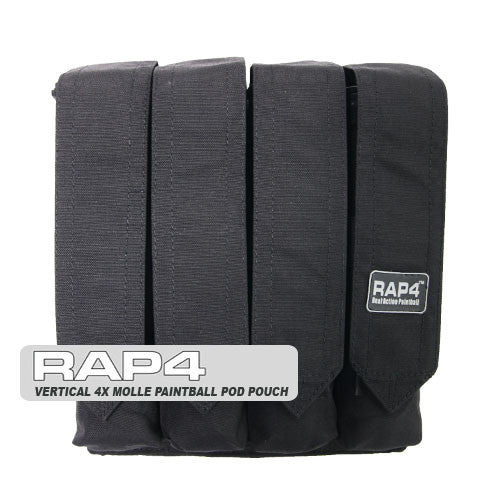 BLACK Quad Pod Pouch - Punishers Paintball