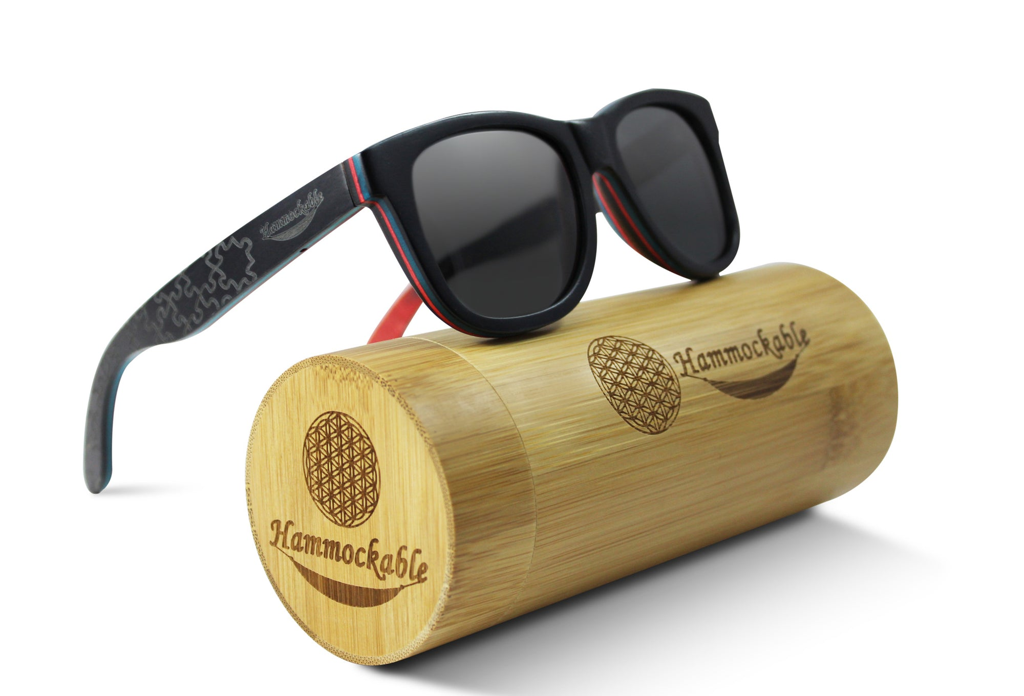 Hammockable Wooden Sunglasses - Black Maple - Puzzle