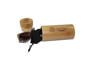Black Maple Wood Sunglasses - Puzzle