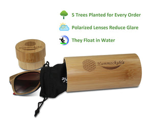 Hammockable Wooden Sunglasses - Natural Maple - Flower of Life