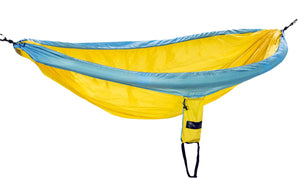 The Original - Light Blue / Yellow Hammockable Parachute Hammock