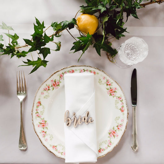 Personalised Wedding/Event Place Settings