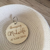 Midwife Key Ring