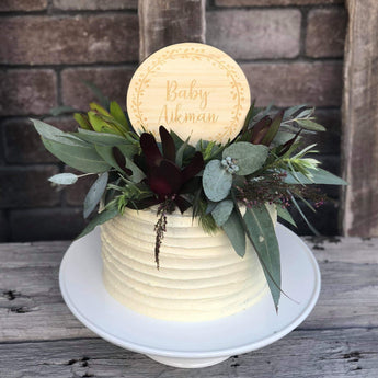 Floral Wreath Cake Topper