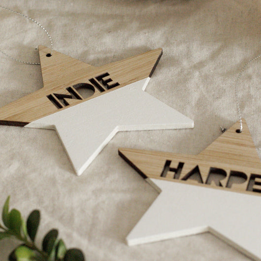 Personalised Christmas Stars