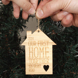 First Home Personalised Christmas Ornament