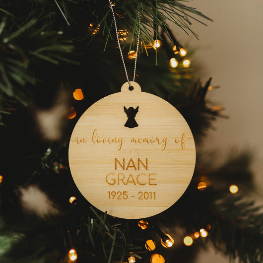 In Loving Memory Christmas Bauble