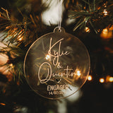 Engaged/Mr & Mrs Christmas Bauble