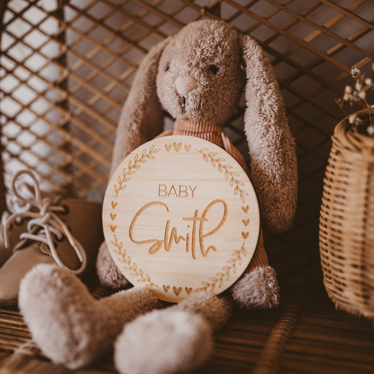 Oh Baby, Baby! Personalised Announcement Card