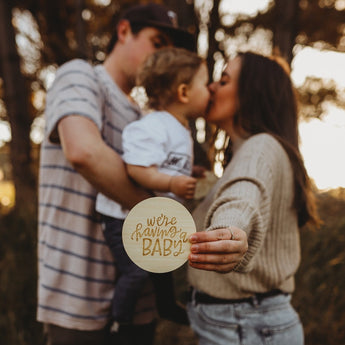 Lovely Lettering Pregnancy Announcement