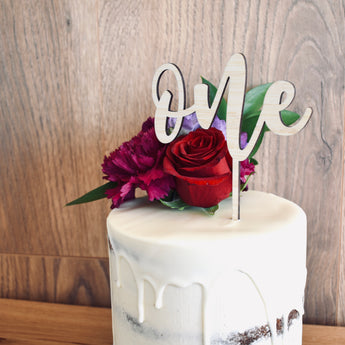 One Cake Topper - Large