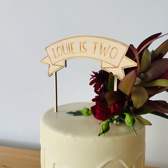 Banner Personalised Cake Topper
