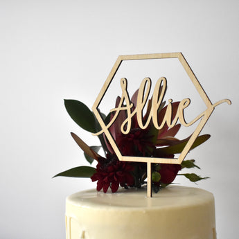 Geo Personalised Cake Topper (other colours available)