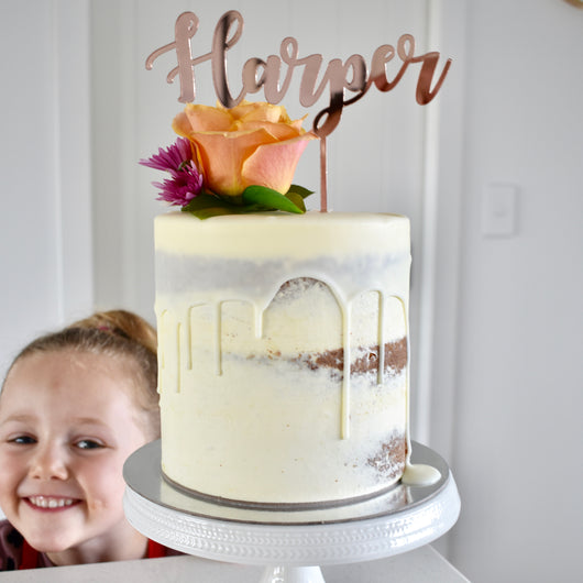Mirror Personalised Cake Topper