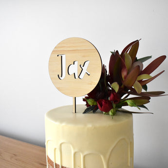 Round Personalised Cake Topper