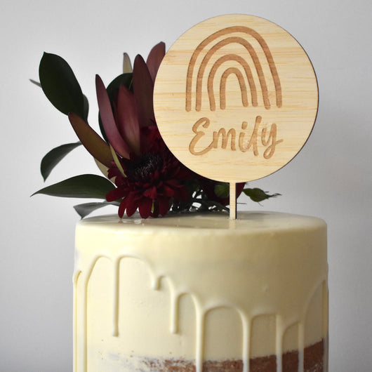 Lovely Lettering Rainbow Cake Topper (other colours available)
