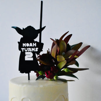 Yoda Personalised Cake Topper (other colours available)
