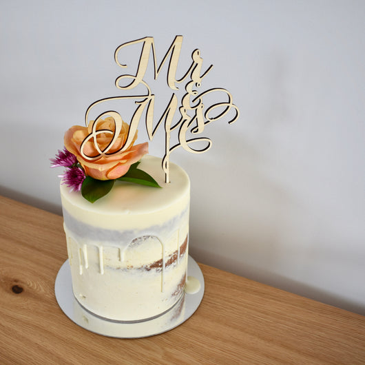 Fancy Mr & Mrs Cake Topper (other colours available)