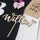 [LOVELY LETTERING] HANDLETTERED CAKE TOPPER