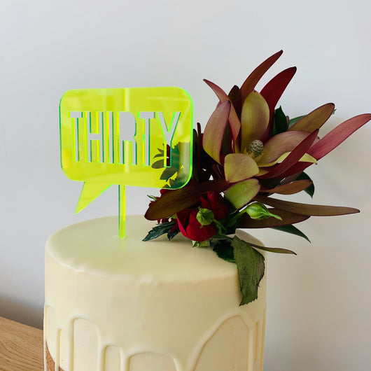 Speech Bubble Personalised Cake Topper