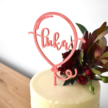 Balloon Personalised Cake Topper